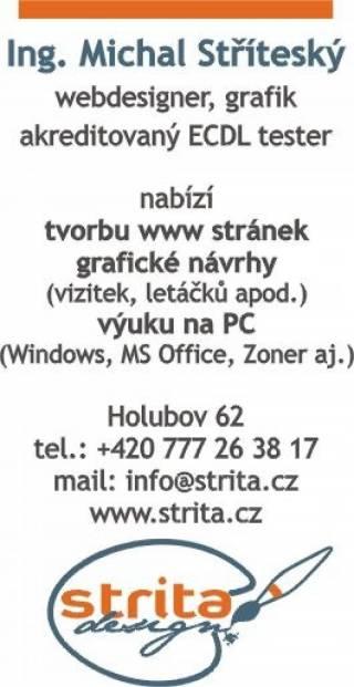 Ing. Michal StYíteský - webdesigner, grafik, akreditovaný ECDL tester